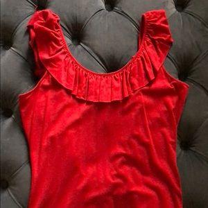 Torn by Ronny Kobo Ruffled Shirt